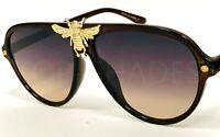 Fashion Designer Aviator Men Women Bee Moth Bug Style Fancy Shades Sunglasses