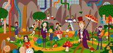 "Josh Agle SHAG ""Willy Wonka & Chocolate Factory"" print POP ART Serigraph #/100"