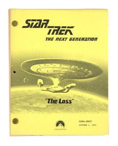 "STAR TREK: TNG ORIGINAL SCRIPT- ""The Loss,"" Written by Bader, Adler, & Greene"