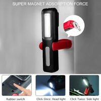 USB RECHARGEABLE TORCH COB MAGNETIC GARAGE CAR INSPECTION LED WORK LIGHT LAMP