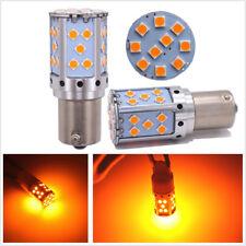 Pair BAU15S 7507 PY21W 1156 PY LED Bulbs For Car Front or Rear Turn Signal Light