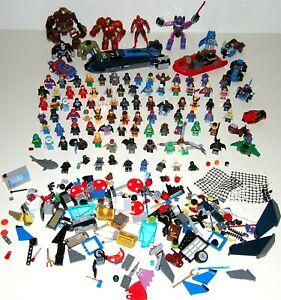 LOT ~ Authentic LEGO Super Heroes Mini-Figures ~ 75+ w/ Dupes ~ Vehicles, Etc.