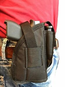 """Gun holster With Extra Mag Pouch For Ruger SR-22 With 3.5"""" Barrel With Laser"""