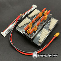 Parallel Charging Board SAFE!!  XT60 40A for 4  Packs JST-XH (2-8S)