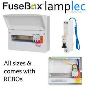Fusebox Metal SPD Consumer Unit with Type A RCBOs 100A Main Switch RCBO Board F2