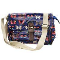 Satchel Oilcloth Butterfly Print Small/mini cross body messenger Bags