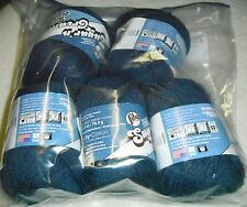 """5 Skeins, Lily, """"Sugar 'N Cream"""", Indigo, 100% Cotton Yarn"""