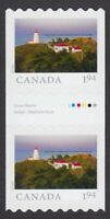 2020 = FROM FAR AND WIDE = GUTTER PAIR with # = LIGHTHOUSE = 1.94 MNH Canada