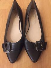TOD'S  Ballerina Black Leather Ballet Flat Shoe 37 !!! SHARWEI