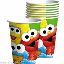 SESAME STREET 1st BIRTHDAY 9oz PAPER CUPS (8) ~ Party Supplies Beverage Elmo
