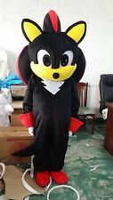 NC Shadow the Hedgehog Cosplay Party Fancy Dress Suit Black Sonic Mascot Costume
