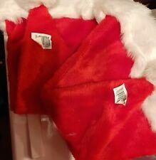 New - Furry Christmas Santa Hats x2