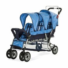 Child Craft Stroller 3 Passenger Canopies Adjustable Regatta Blue F99039.03 New