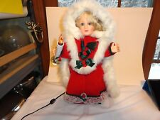 BEAUTIFUL ANIMATED CHRISTMAS DOLL~HOLDS A LIGHTED CANDLE AND MOVES~EXC. COND.