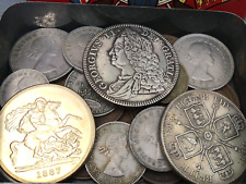 More details for old british coins job lot / tin of random coins from old collection british !!!