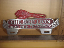 The Red Lion Roar With Champions License Plate FOB Topper Wall Car