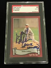 BILL IRWIN EDDIE COLLINS EIGHT MEN OUT 1919 WHITE SOX AUTOGRAPH CARD SIGNED SGC