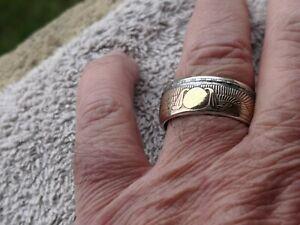 Bague pièce de monnaie Egypte 25 Piastres Argent coin ring