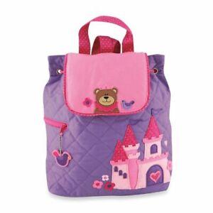 Personalised Stephen Joseph Princess Bear backpack for kids, School Bag, Nursery