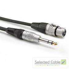 SOMMER CABLE Basic+ 3m XLR- auf 6,3mm Klinken- Adapterkabel | HBP-XF6S-0300