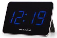 Radio Controlled Mains Digital LCD Extra Large Digit Alarm Clock Blue Display