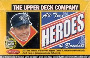 1994 Upper Deck All Time Heroes of Baseball sealed (sous blister) Box