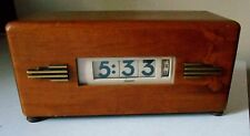 VINTAGE LAWSON ELECTRIC CLOCK P-40 ART DECO STYLE 217 ~ WORKING FLIP CLOCK