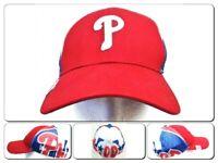 Phillies New Era 39Thirty Hat Baseball Cap L XL Spellout Mesh MLB Genuine Merch