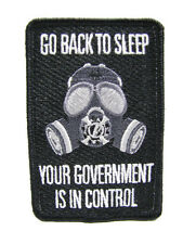 Go Back To Sleep Your Government Is In Control Anti Obama Military Prepper Patch