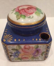 Beautiful Limoges France Ink Well Adriana Floral Pinks Blues