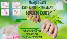 Soin des mains au beurre de karité Émollient Hydratant  masque gants manucure Y5