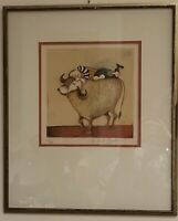 Graciela Rodo Boulanger, Boy with Bull, Signed, Numbered LE Lithograph (165/200)