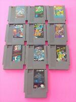 NES Game Lot Of 10 Original Nintendo Cartridges Authentic Imperfect  #17