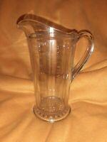 "Vintage Depression Era Glass Measuring Pitcher 1 quart 8.5"" tall"