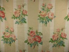 Vintage Rose Floral Linen Fabric Remnant Lee Jofa Honfleur 4.5 m Shabby Chic