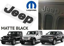 OEM Mopar 68185492AB Matte Black JEEP Grill Emblem For Wrangler JK JKU New USA