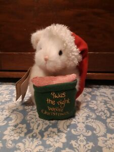 "Boyds EVE ~ 7"" mouse w/ 'Twas the night before Christmas pillow ~ mint w/ tag"