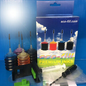 ECO-FILL INK REFILL KIT HP Deskjet 2600 2630 2634 3700 3732 Envy 5020 5030 5032