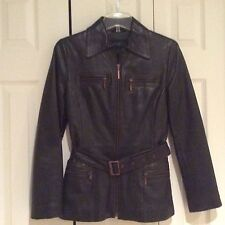 NEW! KENNETH COLE REACTION GENUINE LEATHER JACKET! WOMENS S/4 $299.00+ MUST SEE!