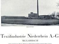 TEXTIL-Industrie Niederrhein AG Mönchengladbach historische Gründeraktie 1922