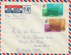 1966 Gibraltar cover sent to RAF Base Gibraltar