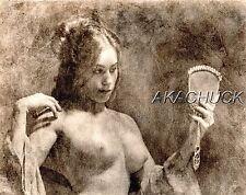 Boudoir Admiring Self Mirror SEPIA HENDRICKSON PHOTO Original Artist Studio D411