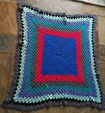 Crochet Blanket - Handmade (Granny) Throw, Cot/Baby Blanket 146 cm sq.
