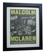 MALCOLM McCLAREN+Duck Rock+POSTER+AD+RARE ORIGINAL 1983+FRAMED+FAST GLOBAL SHIP