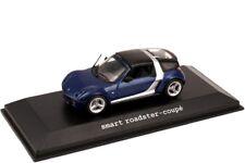 MERCEDES SMART CAR ROADSTER COUPE C452 STAR BLUE 1:43 MINICHAMPS (DEALER MODEL)