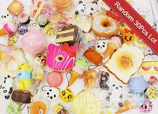 Lot 30 Random Kawaii Squishies Bun Rilakkuma Toast Donut Bread Squishy Cat charm