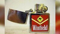 Accendino Benzina Petrolio Winfield Canguro Metallo Cromato Vintage
