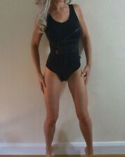 New with Tags Superdry Black Logo Stretch Fit Street Bodysuit S UIK 10