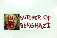 Anti Hillary Clinton Butcher of Benghazi 3x9 Car Bumper Sticker decal