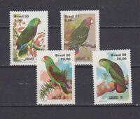 s19018) BRASILE BRAZIL  MNH** Nuovo** 1980 Lubrapex, parrots 4v